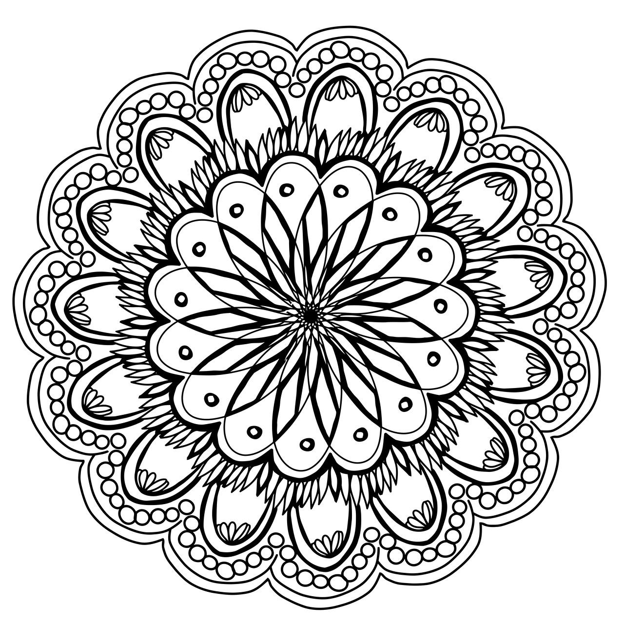 flowers, mandala, hand